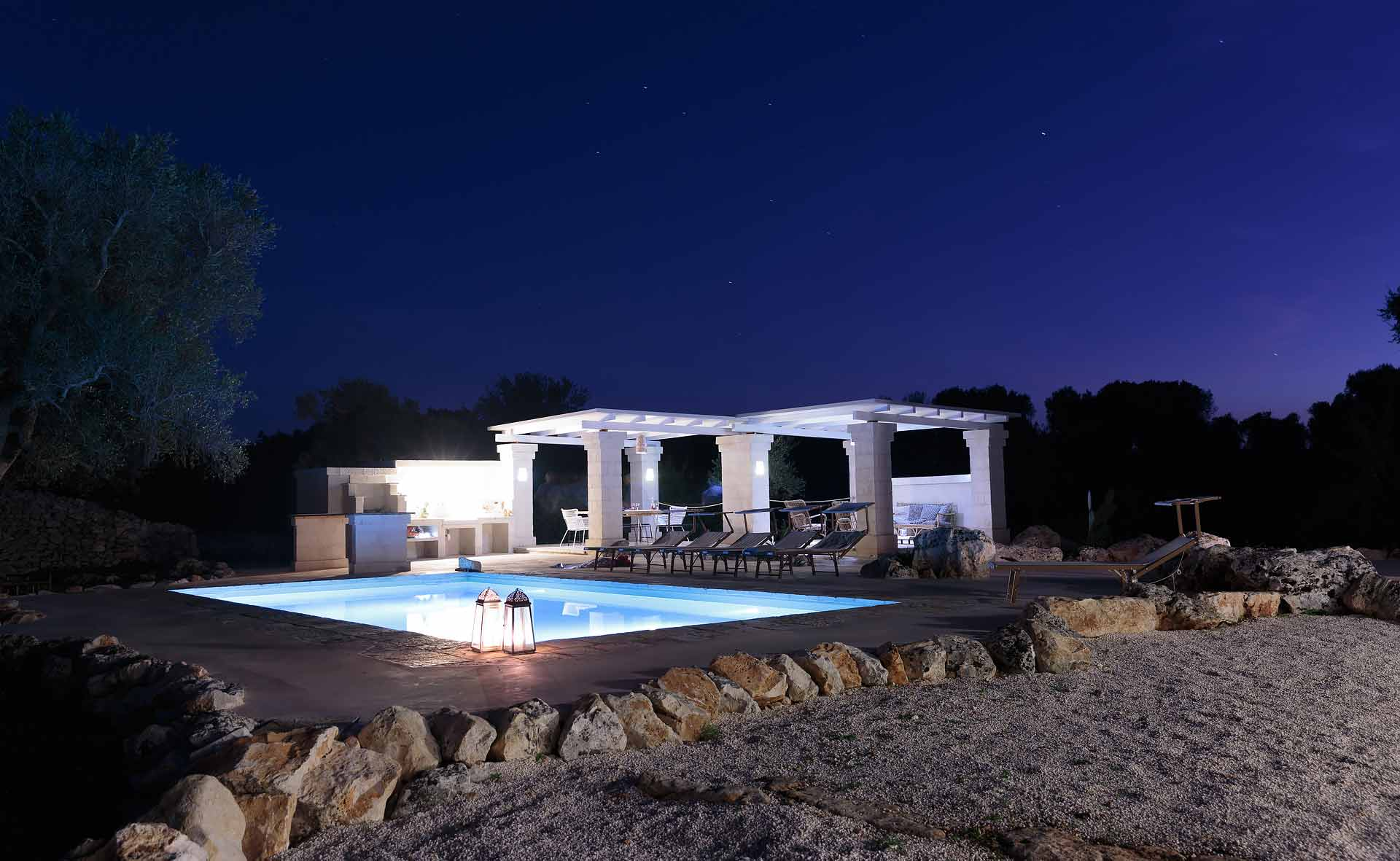 The pool of our villa for rent in Ostuni, Puglia