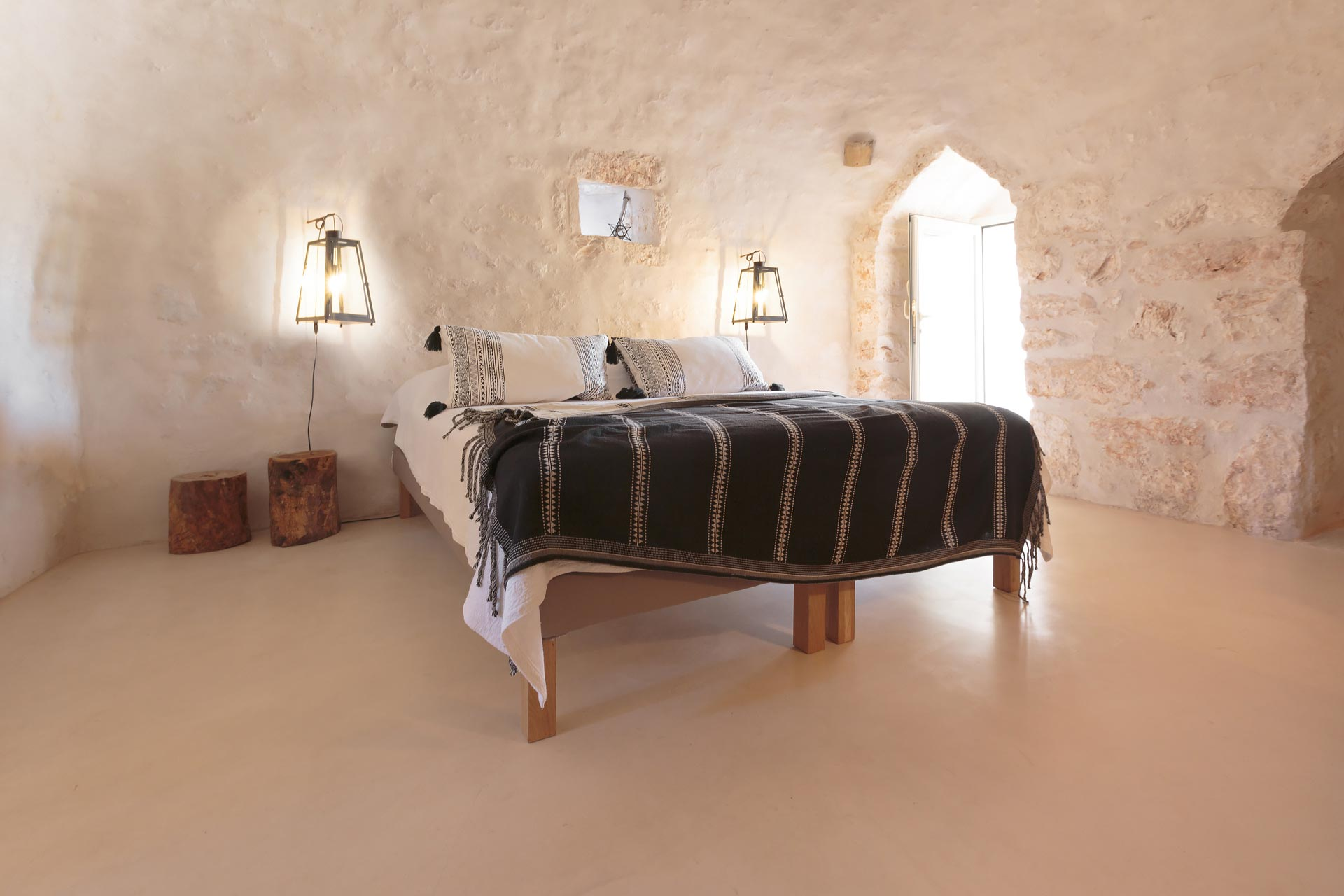 The bedrooms in the trulli