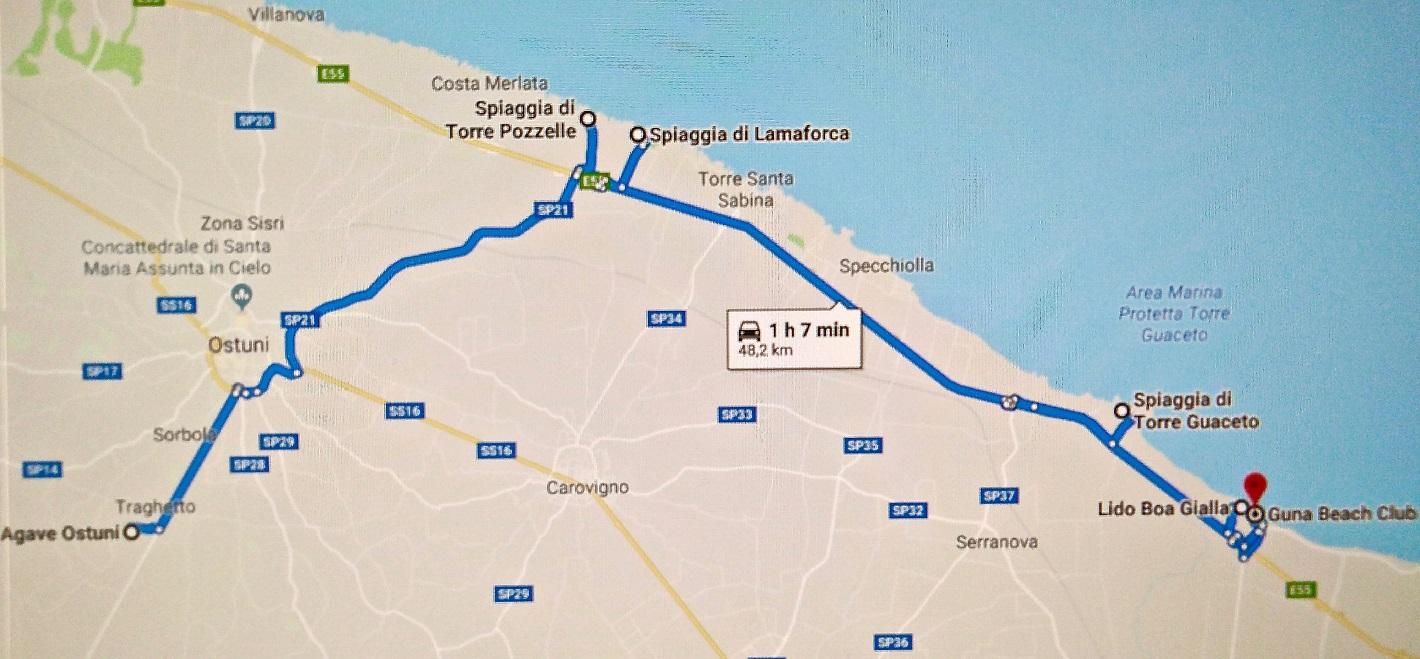 Mappa Puglia Ostuni.Ostuni Il Mare E Le Spiagge Costa Sud
